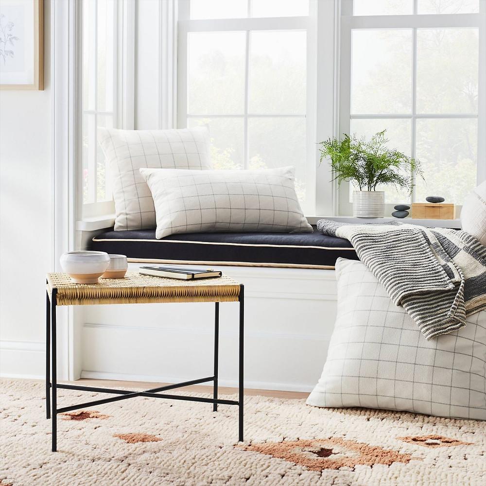 Windowpane Check Pillow Cream - Threshold™ designed with Studio McGee - image 5 of 8