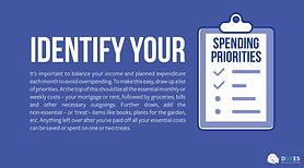It's important to balance your income and planned expenditure each month to avoid overspending.