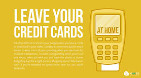 It can often be difficult to stick to your budget when you have a credit card or debit card in your wallet. Avoid overspending...