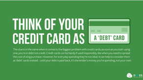 Think of your Credit Card as a 'Debt' Card