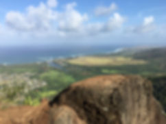 View of Kaua'i from Mountain top