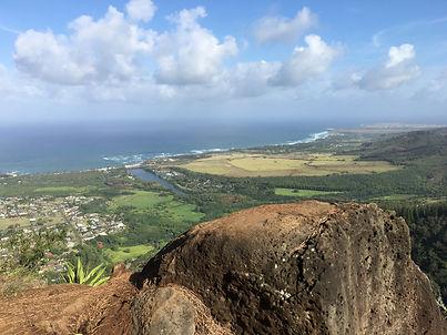 View of Kaua'i from Mountain top