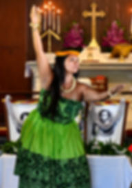 Hula Dancer, All Saints' Episcopal Church