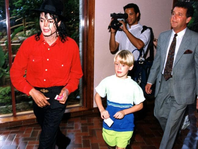 Jackson and Culkin on holiday in Bermuda, 1991