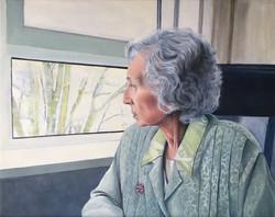 moeder bij het raam
