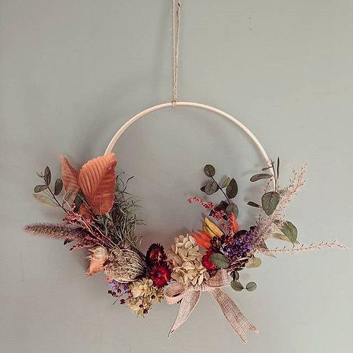 Half-Moon Everlasting Floral Wreath