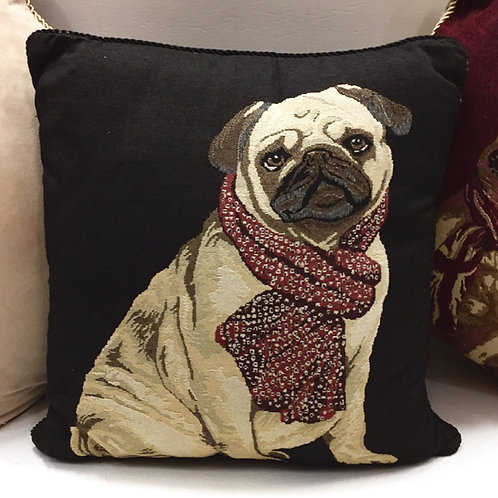 Dog Cushion Covers (black back - 2 designs)