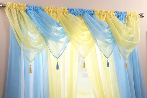 Plain Voile Swags (21 colours)