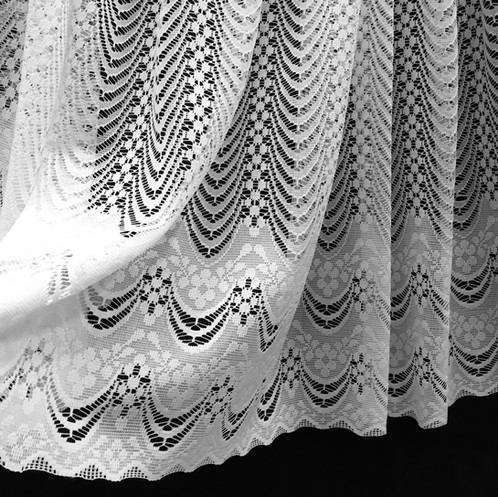 This Lace Fabric Is A Simplistic Design With More Pronounced Floral Waved Bottom Unusual Amongst Net Curtains Whilst The Base Has Scalloped
