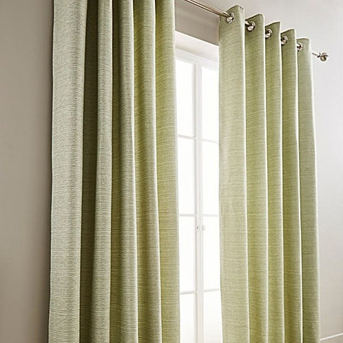 Mila Boucle Tweed Effect Lined Ring Top Curtains (5 colours)