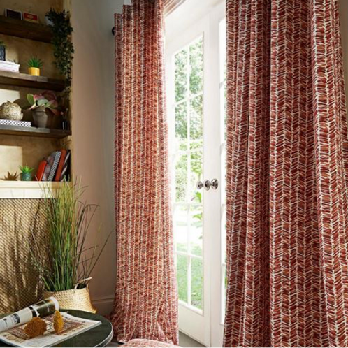 Austin Herringbone Lined Ringtop Curtains (3 colours)