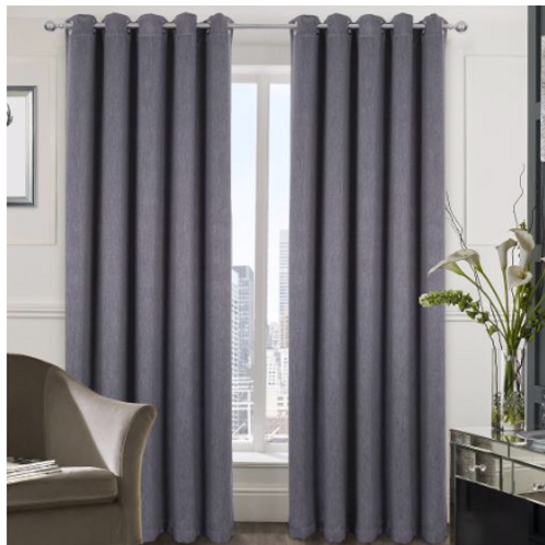 Berlin Blackout Ring Top Curtains (3 colours)