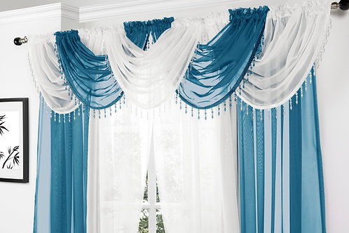 Beaded Voile Swags (19 colours)