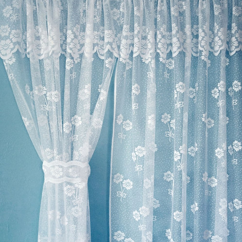 Darcey Lace Curtain Set