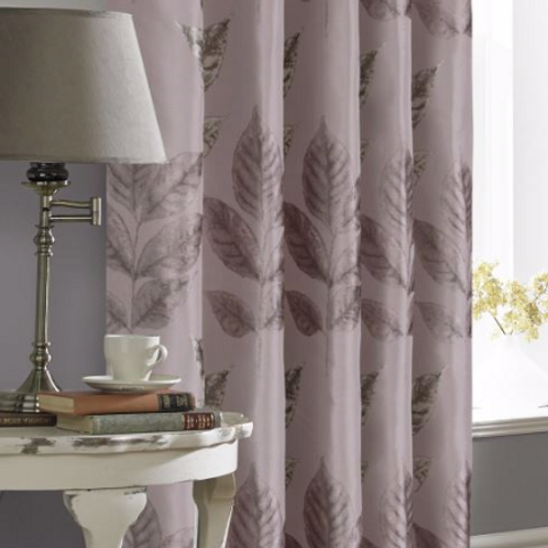Blakely Metallic Leaf Ring Top Curtains (5 colours)