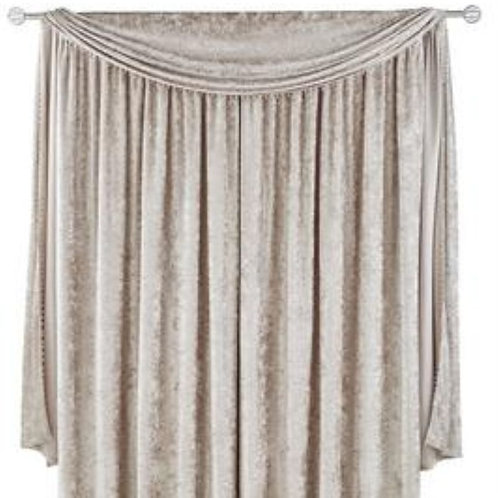 Crushed Velvet Pencil Pleat Curtains (5 colours)