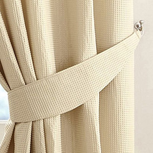 Alice Waffle Lined Ring Top Curtains (7 colours)