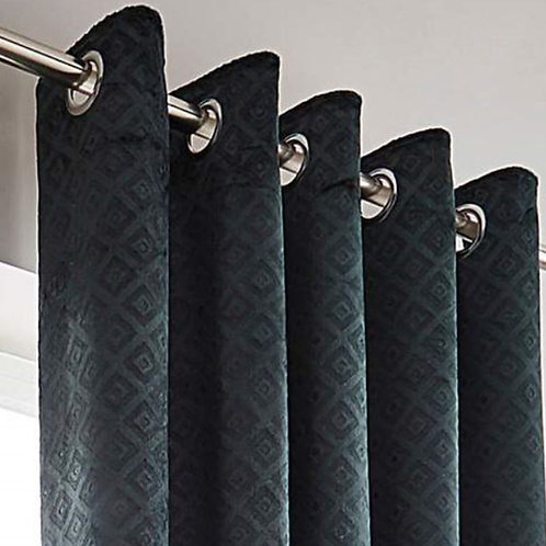 Alto - Textured Velour Ring Top Curtains (4 colours)