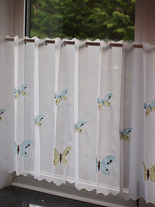 Teal Butterfly Voile Panel