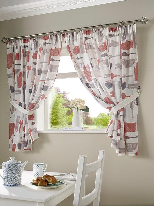 Bistro Kitchen Curtains (Red)