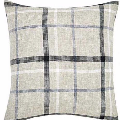 Hudson Woven Check Cushion Cover (4 colours)