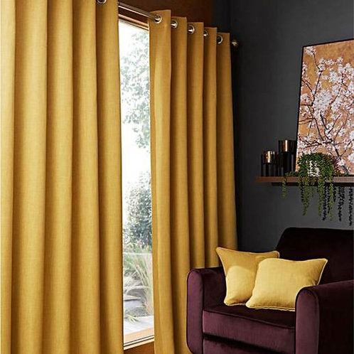 Hugo Woven Blackout Ring Top Curtains (6 colours)