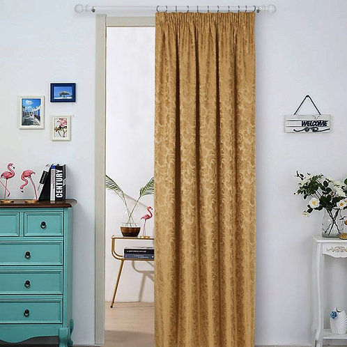 Buckingham Jacquard Metallic Door Curtains (7 colours)