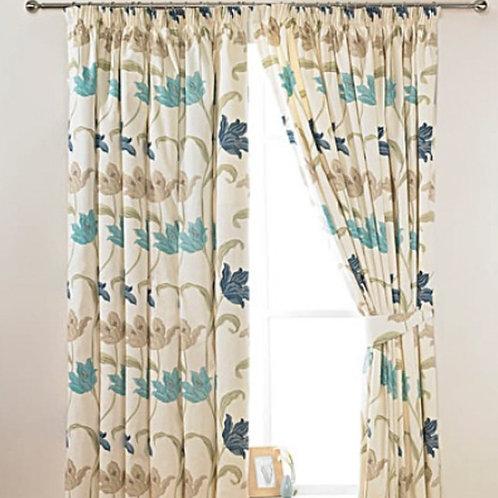 Kinsale Lined Pencil Pleat Curtains (6 colours)