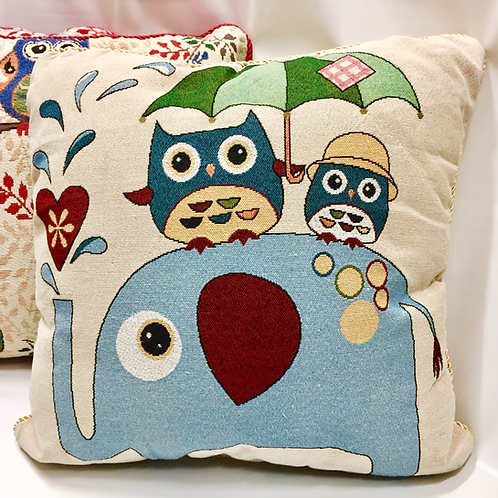 Baby Owl Cushion Cover (4 designs)