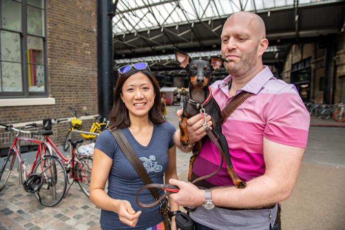 Chris & Verita with Hugo