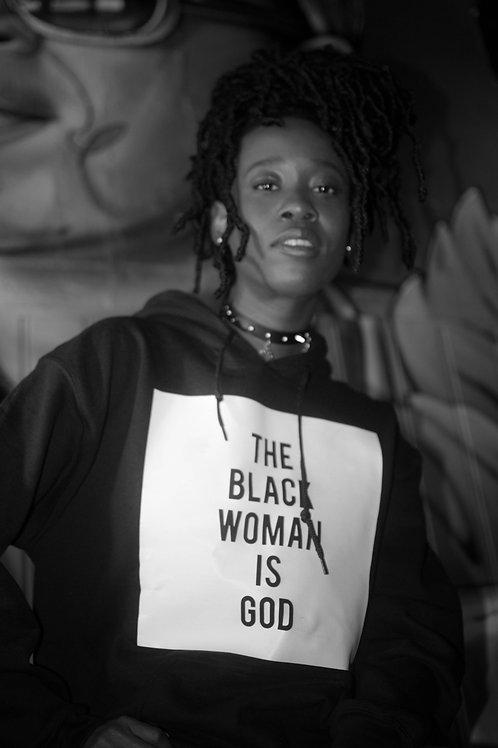 The Black Woman is God hoodie