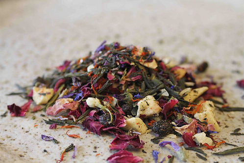 summer fields floral Australian green tea