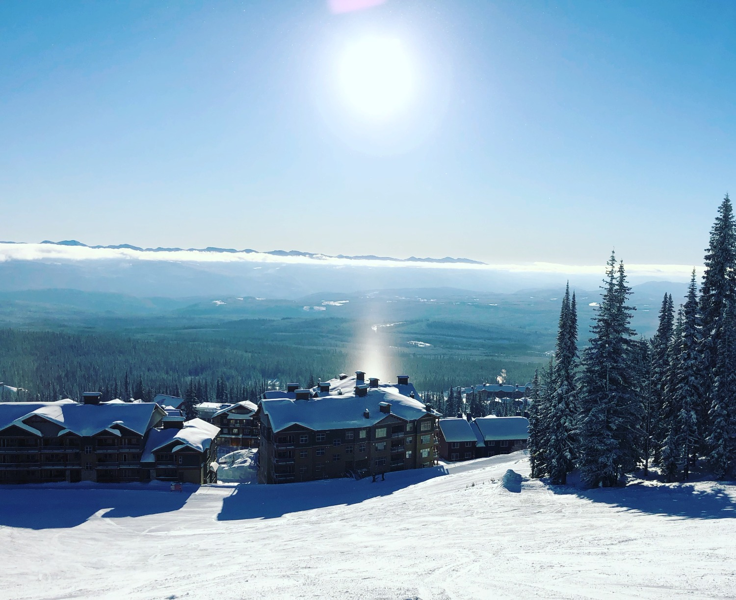 Easy Out Trail on Big White Mountain