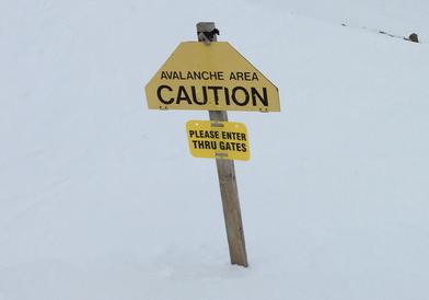 Avalanche Area Caution Sign