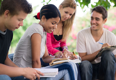 Friends and education, group of universi
