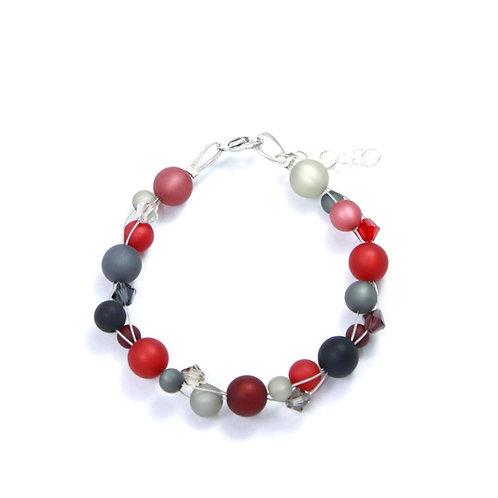Armband rot-schwarz