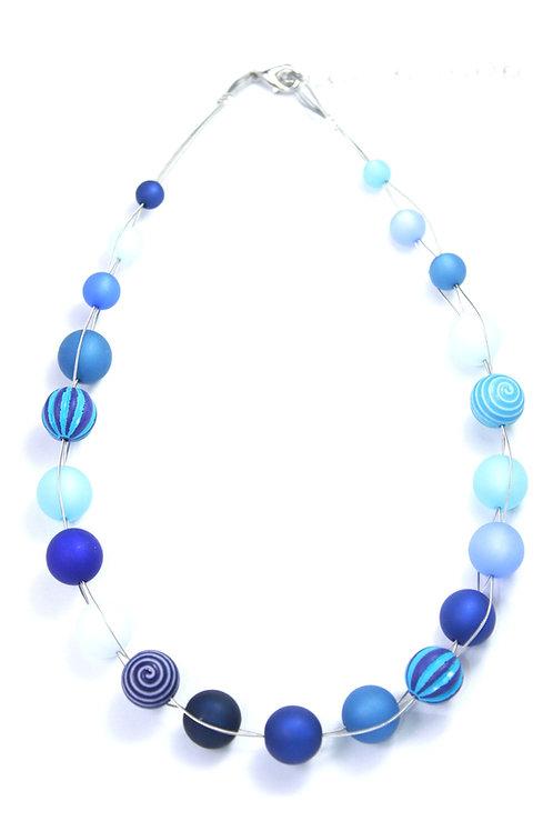 Wasserballkette blau
