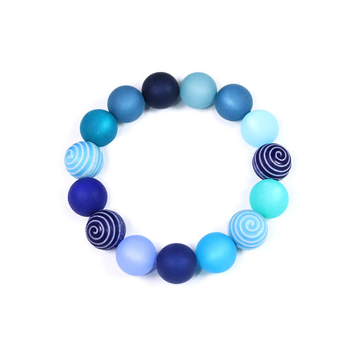 Armband Kringelperle blau
