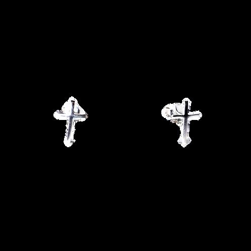 Silberohrstecker Kreuz