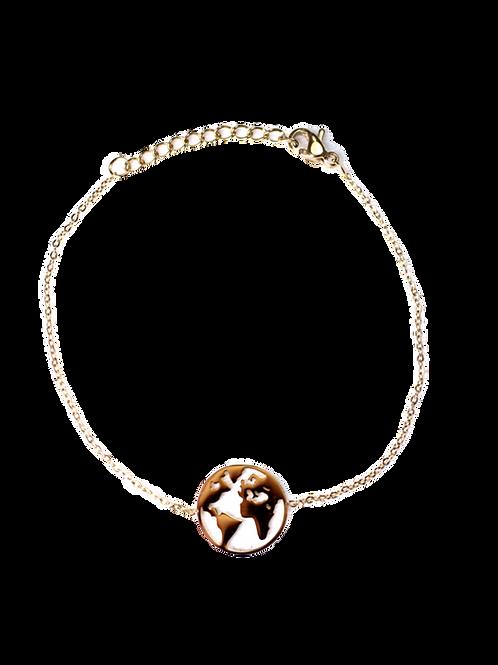 Armband Weltkugel gold
