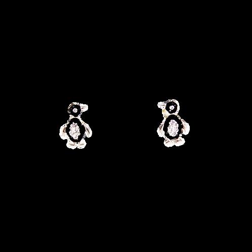 Silberohrstecker Pinguin
