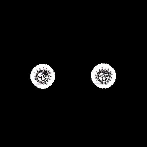 Silberohrstecker Sonne