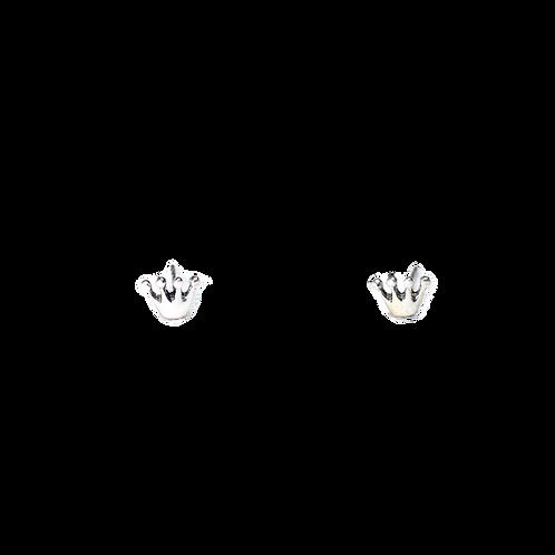 Silberohrstecker Krone