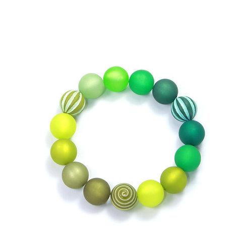 Armband Wasserballperle grün