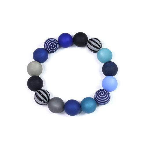 Armband Wasserballperle dunkelblau