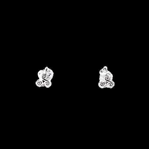 Silberohrstecker Triskele