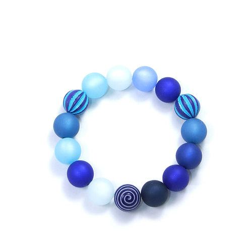 Armband Wasserballperle blau