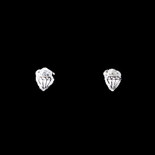 Silberohrstecker Diamant