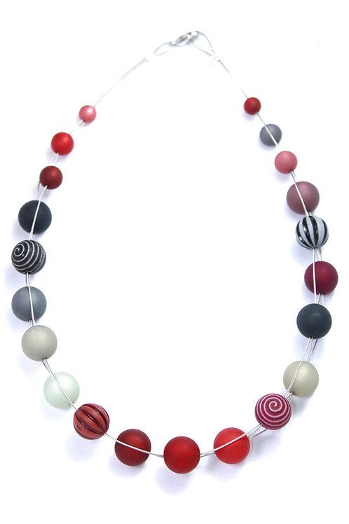 Wasserballkette rot-schwarz