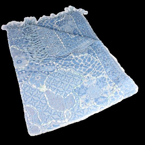 Wollschal eisblau